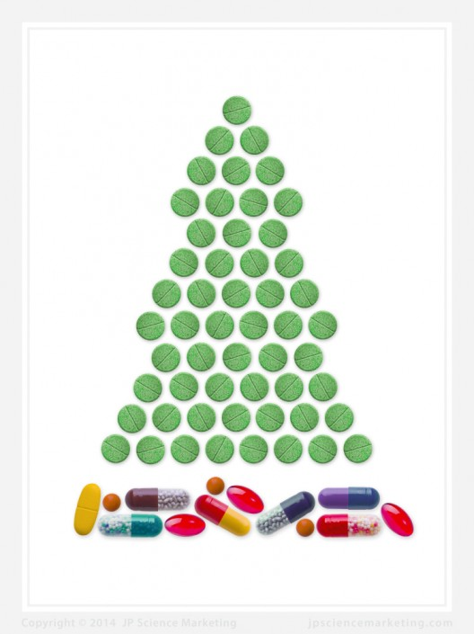 Christmas Tree Pharma Christmas Card - JP Science Marketing