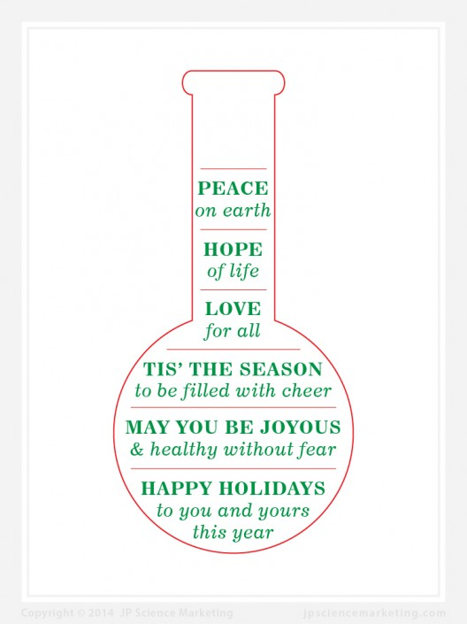 Flask Science Holiday Card - JP Science Marketing