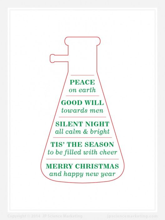 Flask Science Christmas Card - JP Science Marketing